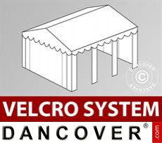 Roof cover with Velcro for Original marquee 3x6 m, White