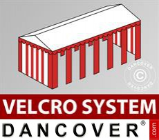 Roof cover with Velcro for Exclusive marquee 6x12 m, White / red