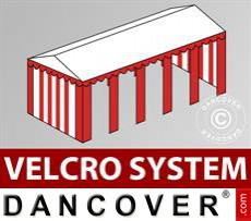 Roof cover with Velcro for Exclusive marquee 6x10 m, White / red
