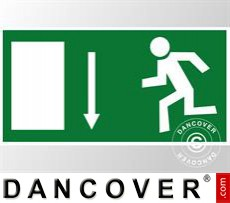 Emergency sign, straight arrow, sticker 5 pcs.