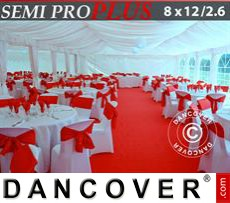 Marquee lining and leg curtain pack, white, for 8x12 m(2.6) marquee Semi Pro...