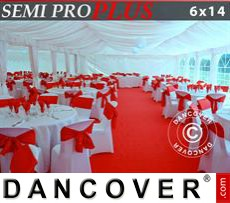 Marquee lining and leg curtain pack, white, for 6x14 m marquee Semi Pro Plus