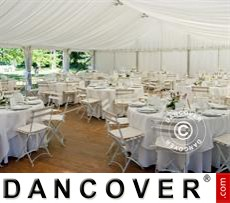Marquee lining and leg curtain pack,white, for 6x12 m marquee