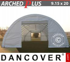 Boat shelter 9.15x20x4.5 m PVC, White