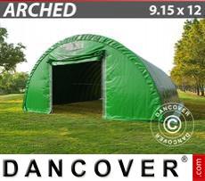 Camper Tent 9.15x12x4.5 m, PVC Green