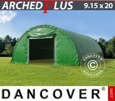 Camper Tent 9.15x20x4.5 m PVC, Green