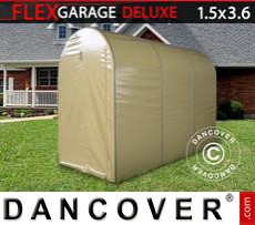 Folding tunnel garage (MC), 1.5x3.6x2.05 m, Beige