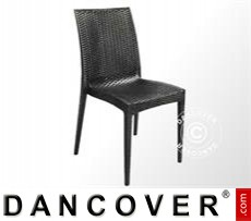 Event Furniture Chair, Rattan Bistrot, Anthracite, 6 pcs.