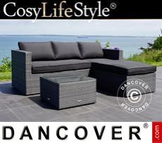 Garden Furniture Lounge Set, Key Largo, Grey