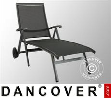 Garden Furniture Sun Lounger, Forios, 81x144.5x105cm, Iron Grey