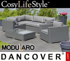 Garden Furniture Lounge Set II, 6 modules, Modularo, Grey