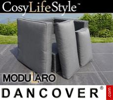 Garden Furniture end corner section for Modularo, Grey
