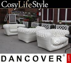 Garden Furniture, Chesterfield style, 2-seater, Off-White