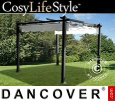 Garden gazebo, 2.9x2.9 m, Dark Grey/White