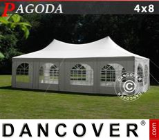 Garden gazebo 4x8m, Off-White
