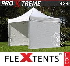 Pop up canopy Xtreme 4x4 m White, incl. 4 sidewalls