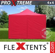 Pop up canopy Xtreme 4x4 m Red, incl. 4 sidewalls