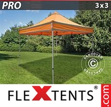 Pop up canopy PRO Work tent 3x3 m Orange Reflective