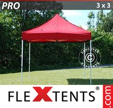 Pop up canopy PRO 3x3 m Red
