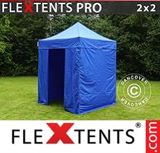 Pop up canopy PRO 2x2 m Blue, incl. 4 sidewalls