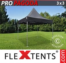 Pop up canopy Peak Pagoda 3x3 m Black