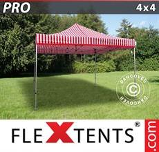 Pop up canopy PRO 4x4 m striped