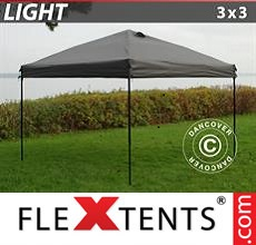Pop up canopy Light 3x3 m Grey