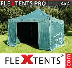 Pop up canopy PRO 4x4 m Green, incl. 4 sidewalls