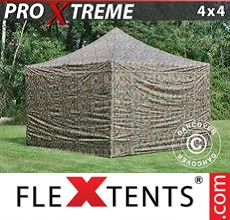 Pop up canopy Xtreme 4x4 m Camouflage/Military, incl. 4 sidewalls