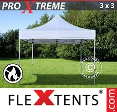 Pop up canopy Xtreme 3x3 m White, Flame retardant
