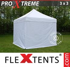 Pop up canopy Xtreme 3x3 m White, incl. 4 sidewalls
