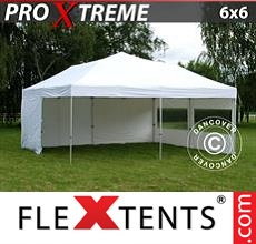 Pop up canopy Xtreme 6x6 m White, incl. 8 sidewalls