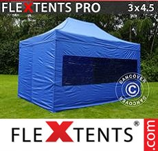 Pop up canopy PRO 3x4.5 m Blue, incl. 4 sidewalls