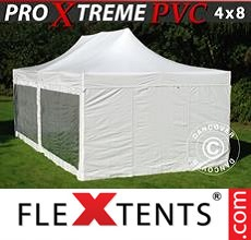 Pop up canopy Xtreme Heavy Duty 4x8 m White, incl. 6 sidewalls