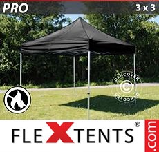 Pop up canopy PRO 3x3 m Black, Flame retardant