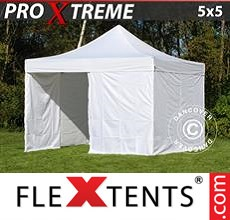 Pop up canopy Xtreme 5x5 m White, incl. 4 sidewalls