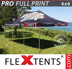 Pop up canopy PRO with full digital print, 4x6 m
