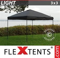 Pop up canopy Light 3x3 m Black