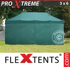 Pop up canopy Xtreme 3x6 m Green, incl. 6 sidewalls