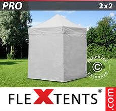 Pop up canopy PRO 2x2 m White, incl. 4 sidewalls