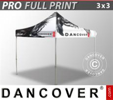 Pop up gazebo FleXtents PRO with full digital print, 3x3 m