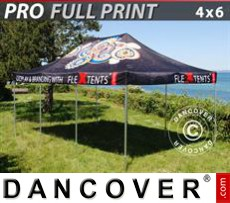 Pop up gazebo FleXtents PRO with full digital print, 4x6 m