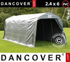 Portable Garage PRO 2.4x6x2.34 m PVC, Grey