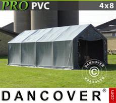 Portable Garage PRO 4x8x2x3.1 m, PVC, Grey