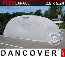 Portable Garage , 2.8x6.24x2.3 m, Grey