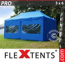 Racing tent PRO 3x6 m Blue, incl. 6 sidewalls