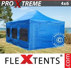 Racing tent Xtreme 4x6 m Blue, incl. 8 sidewalls