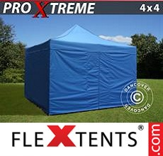 Racing tent Xtreme 4x4 m Blue, incl. 4 sidewalls