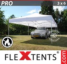 Racing tent PRO 3x6 m White, Flame retardant