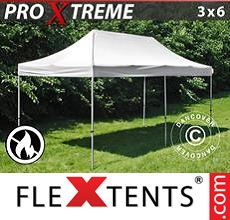 Racing tent Xtreme 3x6 m White, Flame retardant
